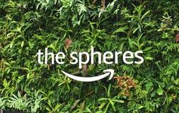 Esferas das Amazonas em Seattle, Washington Foto de Stock Royalty Free