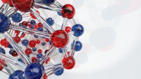 Esferas das moléculas ilustração royalty free
