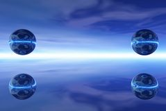 Esferas de aço Foto de Stock Royalty Free