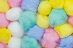 Esferas de algodão Fotografia de Stock Royalty Free