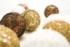 Esferas de ano novo Fotografia de Stock Royalty Free