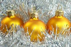 Esferas de ano novo Fotos de Stock Royalty Free