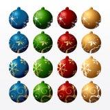 Esferas de ano novo da cor Fotografia de Stock Royalty Free