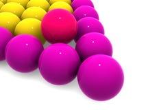 Esferas de bilhar. Imagem de Stock