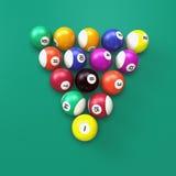 Esferas de bilhar Imagem de Stock