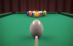 Esferas de bilhar de Easter (ovos) ilustração do vetor
