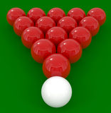 Esferas de bilhar isoladas no verde Foto de Stock Royalty Free