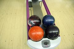 Esferas de bowling Fotografia de Stock Royalty Free