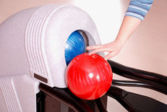 Esferas de bowling Imagens de Stock Royalty Free