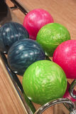 Esferas de bowling coloridas Imagem de Stock Royalty Free