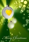 Esferas de brilho do Natal - Feliz Natal Imagem de Stock
