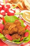 Esferas de carne tradicionais Imagens de Stock