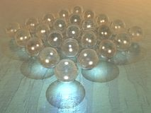 Esferas de cristal Fotografía de archivo
