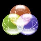 Esferas de cristal Imágenes de archivo libres de regalías