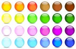 Esferas de cristal stock de ilustración