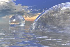 Esferas de cristal Foto de Stock Royalty Free