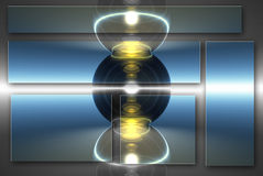 Esferas de cristal Fotografia de Stock