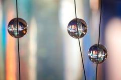 Esferas de cristal como elementos de un diseño Foto de archivo