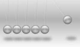 Esferas de equilíbrio de Newton fotografia de stock royalty free