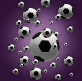 Esferas de futebol Imagens de Stock