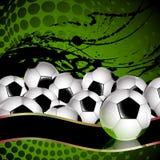 Esferas de futebol Foto de Stock