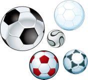 Esferas de futebol Imagem de Stock Royalty Free