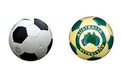 Esferas de futebol Fotografia de Stock Royalty Free