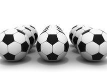 Esferas de futebol Fotos de Stock Royalty Free