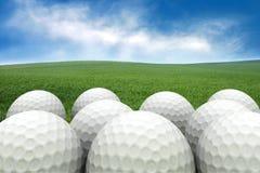 Esferas de golfe Imagens de Stock