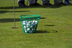 Esferas de golfe Imagem de Stock