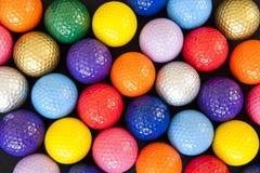 Esferas de golfe coloridas Fotografia de Stock