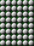 esferas de golfe na grama verde Fotos de Stock Royalty Free