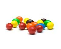Esferas de goma coloridas isoladas no fundo branco Imagem de Stock Royalty Free
