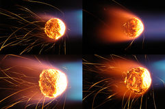 Esferas de incêndio fotos de stock royalty free