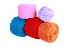 Esferas de lã coloridas Fotografia de Stock