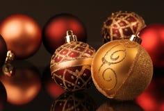 Esferas de la Navidad Imágenes de archivo libres de regalías