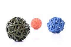 Esferas de madeira coloridas Imagens de Stock Royalty Free