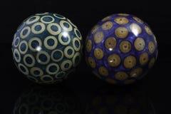 Esferas de madera Foto de archivo libre de regalías