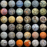 Esferas de materiais diferentes - textura sem emenda ilustração do vetor