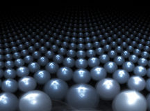Esferas de metal Imagem de Stock