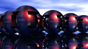 Esferas de metal Foto de Stock Royalty Free