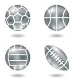 Esferas de metal Imagens de Stock