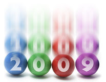 Esferas de mnanipulação com 2009 Foto de Stock Royalty Free