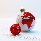 esferas de Novo-ano foto de stock