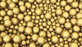 Esferas de oro Imagen de archivo libre de regalías