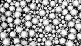 Esferas de prata Fotos de Stock