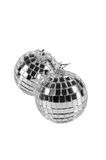 Esferas de prata do Natal isoladas Fotografia de Stock