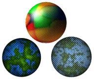 3 esferas de semitono Imagen de archivo