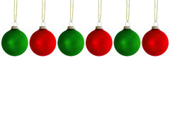 Esferas de suspensão do Natal Imagens de Stock Royalty Free