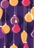 Esferas de suspensão do Natal seamless Vetor Imagens de Stock Royalty Free